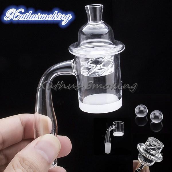 5mm Flat Top Set Quartz Banger with Opaque Thick Bottom Dab Rig with Quartz Cap send Quartz Beads 697 653