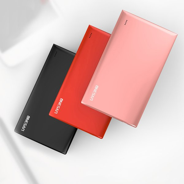 ONESAM OS-B01 External Battery Power Bank 5000mAh Portable Cell Phone Powerbank Charger For iphone Android Smart phone Ultra thin 15pcs