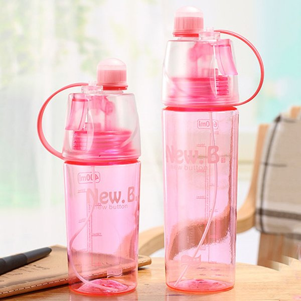 400/600ML spray water bottle portable leak-proof heat-resistant plastic outdoor sports travel summer water cooling kettle gift