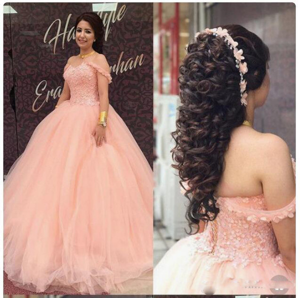 Splendid Pink Ball Gown Quinceanera Corset Sequin Tulle Ruched Sweet 16 Dress Formal Pageant Prom Gowns Custom Made