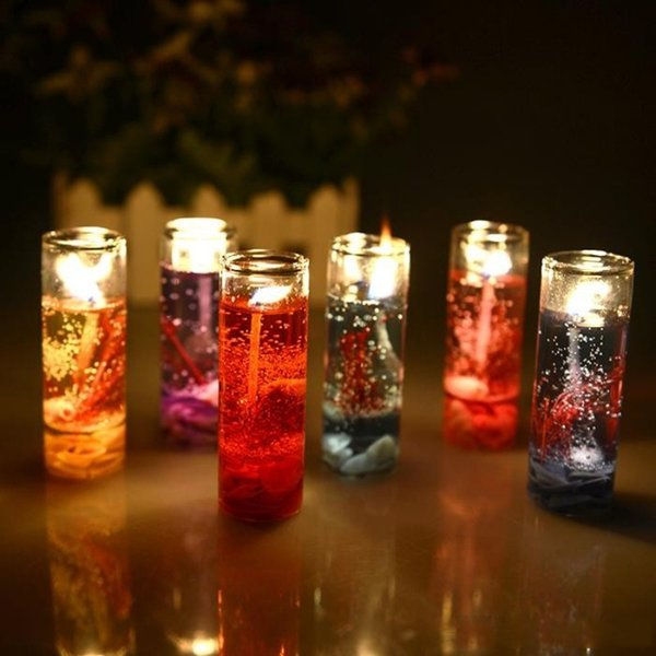 Gel Wax Romantic Candles For Valentine's Day Birthday And Wedding Banquet Candles With 6 Color,Aroma Jelly Wax Candles Product