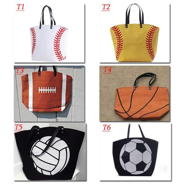 top popular 2018 Kids white baseball Jewelry Packaging Blanks canvas Sports Bags Baseball Softball Tote Bag for Children Tote Handbag FEE DHL 2021