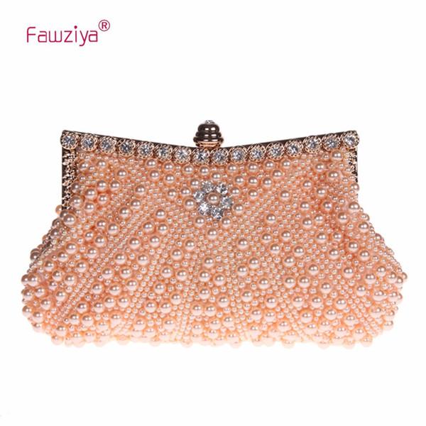 Fawziya Pearl Clutch Purse Evening Bag Wedding Clutches For Women