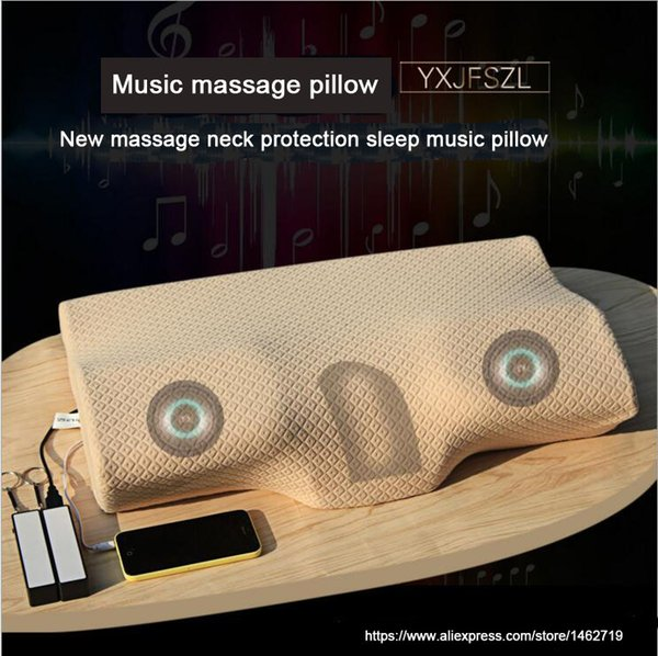 YXJFSZL New Product Intelligent Promote Sleep memory foam pillow with Polyester / Cotton cover, memory foam neck pillow music