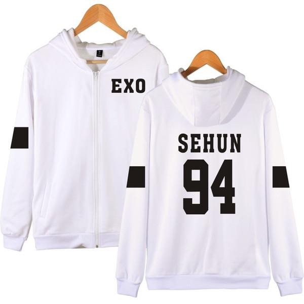 Kazaklar Luckyfridayf Kpop Exo Kapşonlu Sweatshirt Kadınlar Kore Popüler Hip Hop Kış Coat Moda Kadınlar Hoodies Tişörtü Rahat Giydirin
