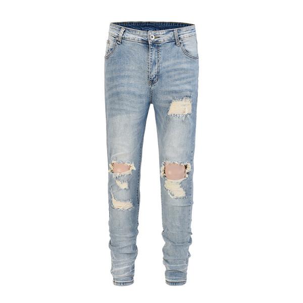 2018 TOP Best version designer clothes big ripped men jeans hip hop justin bieber moto biker Fashion Casual Hole jeans 30-36