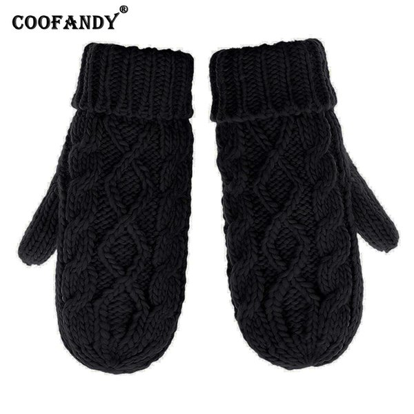 Casual Knit Solid Gloves Guanto Mitten Thick Wrist Drive Drive Winter Unisex Soft Warm