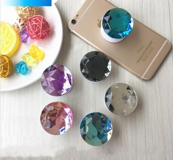 crystal diamond cell phone holder Glitter for Smart phone Quicksand phone stand Tablets support for iphone 9 X plus Samsung Galaxy