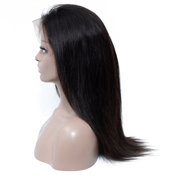 Factory Straight Brazilian Remy Human Hair Lace Front Wigs 8-24 Inch Plucked Straight Human Virgin Hair Wigs for Black Women Wholesale Price