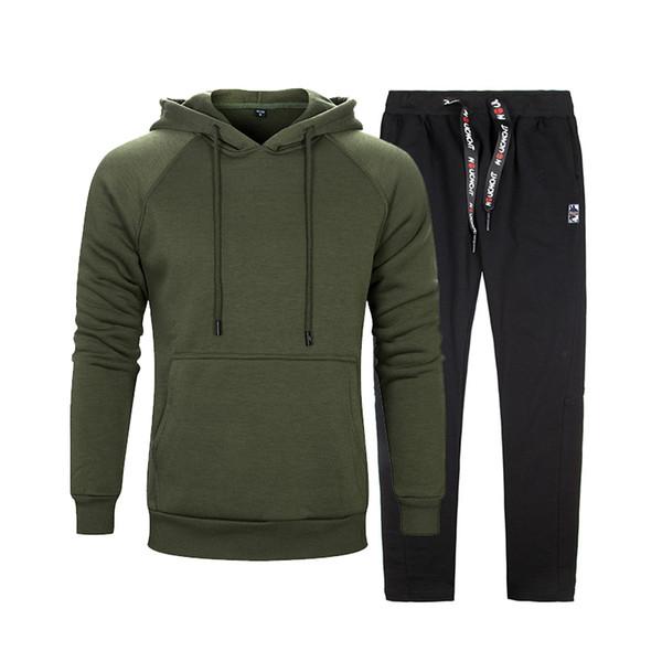 Sweatshirt Tracksuits Men Set Sportswear Long Sleeve 2 pieces Sets Mens Hoodies + Sweatpants Brand Sportswear Survetement Homme C18110501