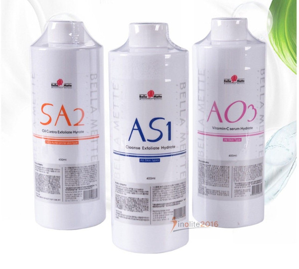 New a 1 a2 ao3 aqua peeling olution 400ml hydra water dermabra ion face clean facial erum for normal kin