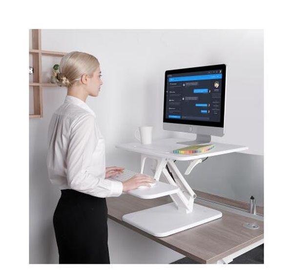 Loctek M3 / M3M Höhenverstellbarer Sit Stand Desk Riser Faltbarer Laptop Schreibtisch Notebook / Monitor Halter Ständer mit Tastatur Tray