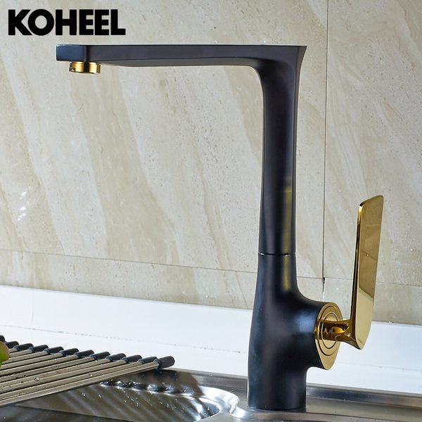 Kitchen Faucet Black Brass Hot And Cold Water Tap Sink Mixer Tap Wash Basin Faucet 5 Colors Basin Mixer High Quality