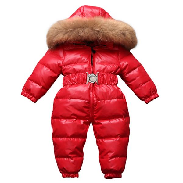 -30 Русская зима Snowsuit 2018 мальчик детская куртка 80% утка вниз открытый Детская одежд
