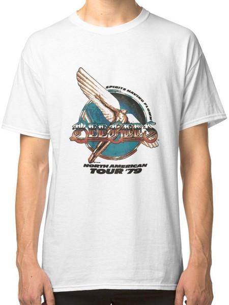 Arı Gees Kuzey Amerika Turu 1979 erkek Beyaz Tshirt Tees T-Shirt yaz Sıcak Satış Yeni Tee Baskı Erkekler T-Shirt Üst 100% pamuk