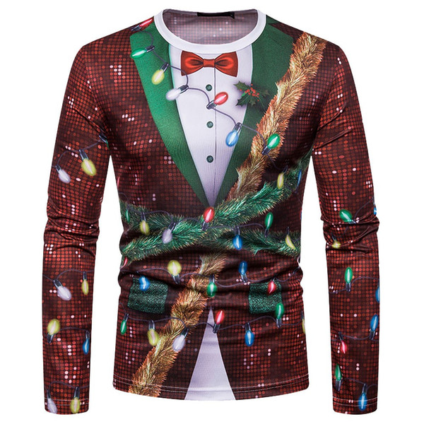 Sunfree Christmas Product Cool Boy Worth Having Quality Pullover 3D Print Hot Selling Blouse Man Fashion Casual Men Tops 3L60