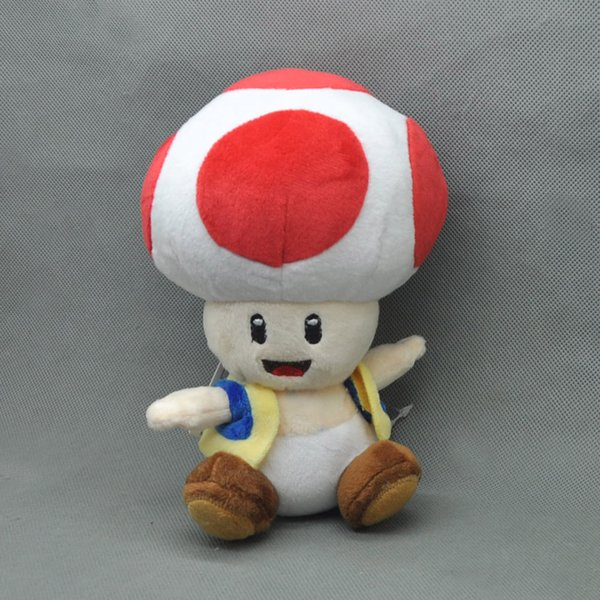 Новая плюшевая кукла Super Mario Bros Toads 18см