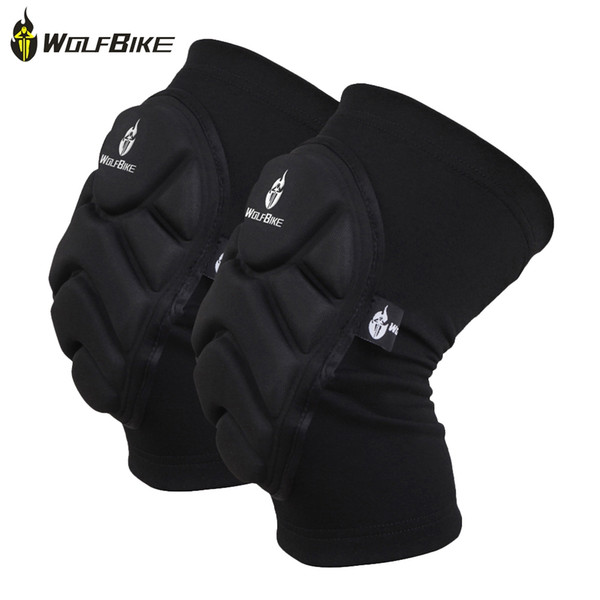 WOLFBIKE BC314 Paired Elastic Knee Pad Breathable Leg Sleeve Kneepad Protector for Football Basketball Skiing With EVA foam