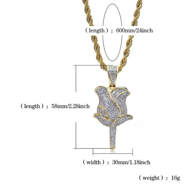 goldsilver with 20inch rope chain