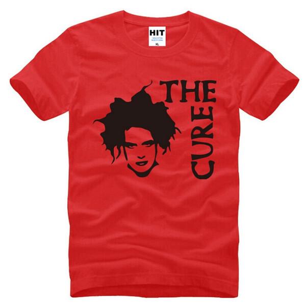 New The Cure Robert Smith Magliette Uomo Fashion Rock Punk T-shirt manica corta O Collo in cotone stampato Top Tee Abbigliamento uomo