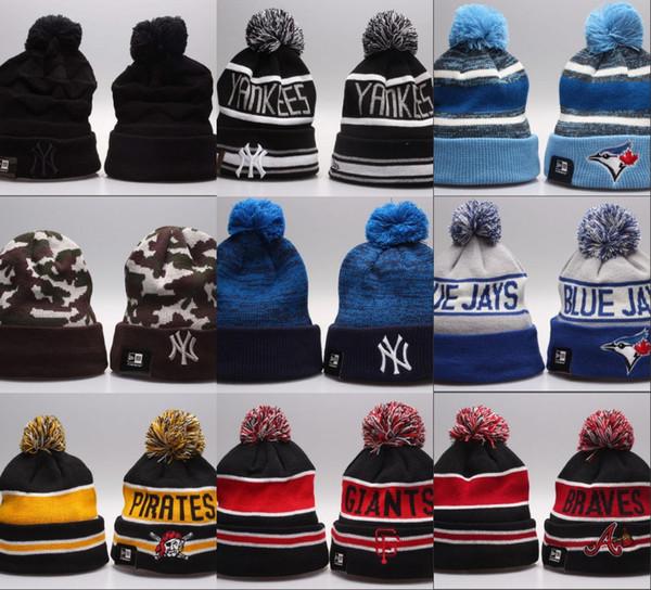 2019 дизайн команда beanie спорт футбол cap зима gorros Kintted шляпы шапочки для мужчин Женщины смешанный заказ высокое качество