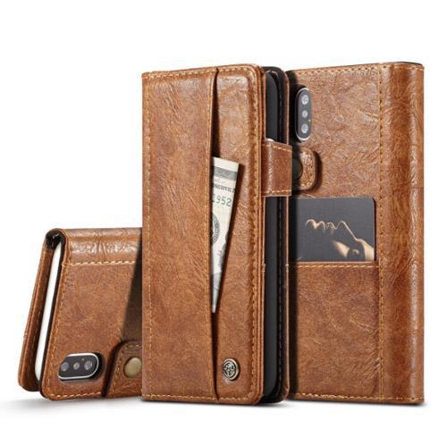 Gorgeous Phone Wallet für iPhone 5 6 6Plus 7 7Plus 8 8Plus iPhone X Flip Echtes Leder Luxus Hoesje Kartenetui