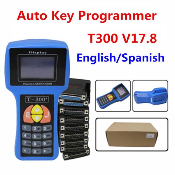 Key Programmer T300 Latest English And Spanish V17.8 Professional Auto Key t300 Maker Rodan Auto Car tools DHL free shipping'