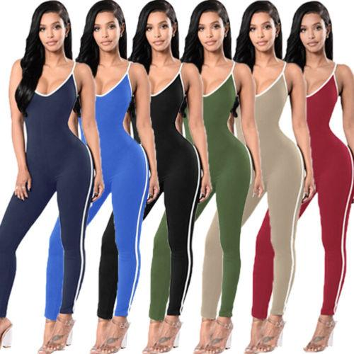 New Fashion Women Ladies Solid Skinny Casual Clubwear Playsuit Bodycon Party Jumpsuit Romper Trousers