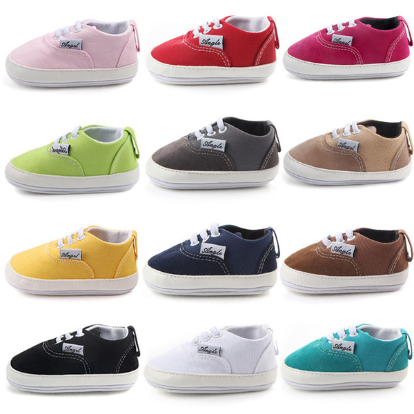 Kids Baby Soft Bottom Walking Shoes Boy Girl Striped Anti-Slip Sneakers with 15 Color Factory Price Wholesale Order sale 3 Pairs Or More