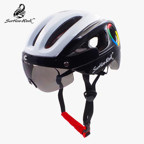 SCOHIRO WORK ultralight bicycle helmet for men road mtb mountain bike helmet lenses goggles cycling equipment Ciclismo
