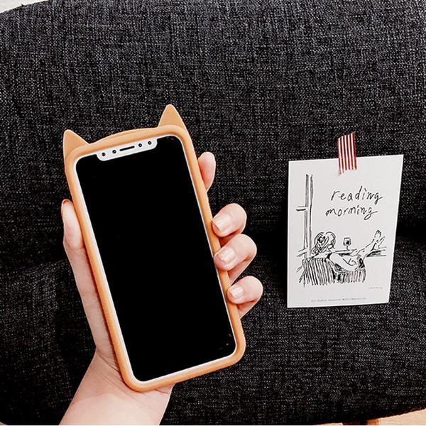 YunRT Luxury Tengocase slim rubber 3d cute cartoon leopard cat soft silicone back Cover Case for iPhone