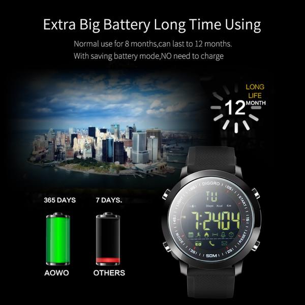 Super remise nouvelles images de mode de premier ordre Montre Connectée Gps Diggro EX18 Smart Watch Étanche IP68 5ATM Compteur  Message Rappel Ultra Long Standby Natation Activités Sportives Tracker Les  ...