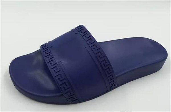 Palazzo Medusa Pool Slides With Embossed Medusa Head Rubberised Slip-On Rubber Pvc Sandals Slippers Womens Slippers 57Versace