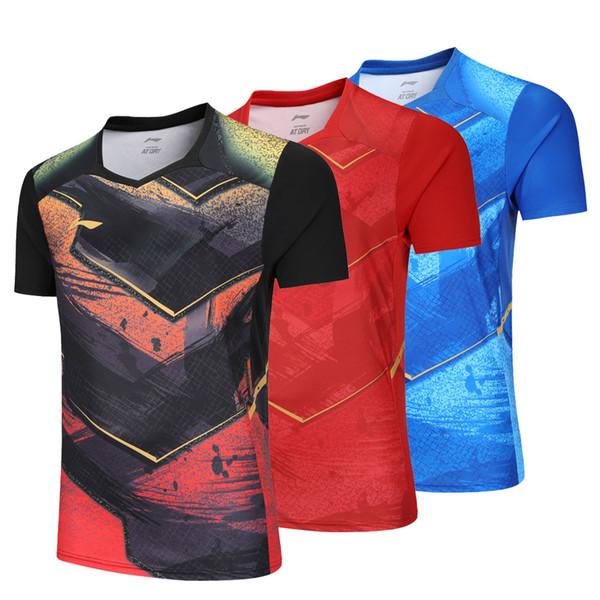 2018 China Li-Ning table tennis shirt Men , Zhang Jike Jerseys pingpong t-shirt , ping pong Team clothes