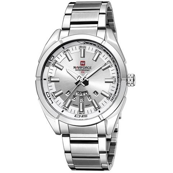 beijing18 / NAVIFORCE 9038 Brand Men Watches Luxury Sport Quartz 30M Waterproof Watches Stainless Steel Band Auto Date Wristwatches Relojes