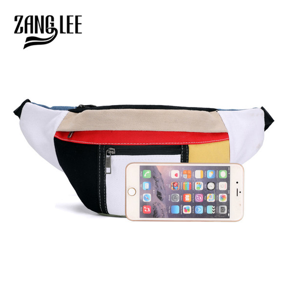 New Men Canvas Zipper Pockets Fanny Pack Chest Waist Bag Casual Phone Bag Wallet