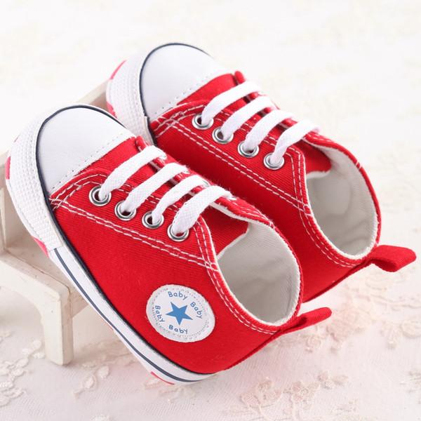 5 paires / 10pcs pas cher en gros de mode Enfants Bébé Chaussures de Sport Garçon Fille Premiers Marcheurs Sneaker Bébé Infant Mous Bottom Walker Chaussures Mode bébé