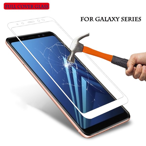 9 H 2.5D Temperli cam Samsung Galaxy A6 Kapak A 6 2018 A6 Artı 2018 A6plus koruyucu film Samsung galaxy a6 telefon kılıfı