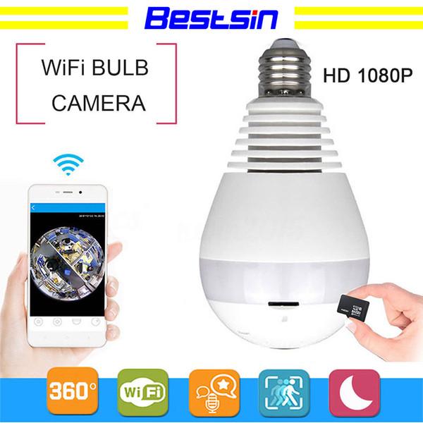 Luz 960 P 1080 P Wi-fi Panorâmica câmeras de segurança bulbo 360 ° Home Security sistema de câmera sem fio IP 3D Olho de Peixe monitor de luz da lâmpada da câmera