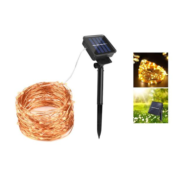 AIMENGTE10M/20M Solar powered led strip String Copper Wire Lights for Gardens Parties Wedding Landscape Decoration led lighting