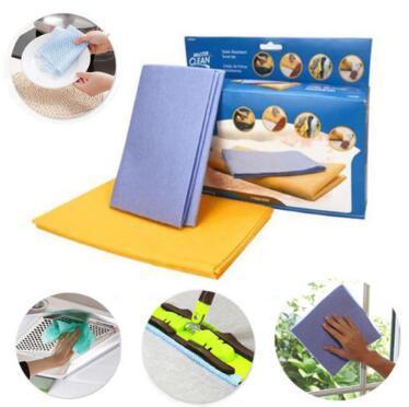 8 unids / set Shamwow Toalla de tela absorbente de agua Paño de cocina Trapos Trapos de limpieza Cocina Hogar Paños de limpieza de aceite antiadherente CCA9560 36set