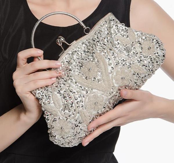 top popular Luxurious Evening bag 2018 Hot Designer Clutch Retro Women Handbags Embroidery Bag Womens Expensive Evening Bag 2019