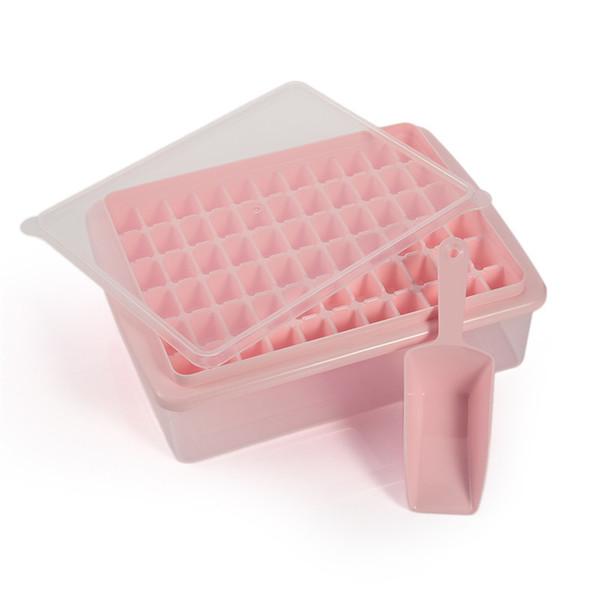 Eco-Friendly 55/66 Griglie cubi di ghiaccio Vassoio Stampi con coperchio e paletta di plastica Pp, Ghiacciato Conservazione Box Whisky Maker Jelly Blu