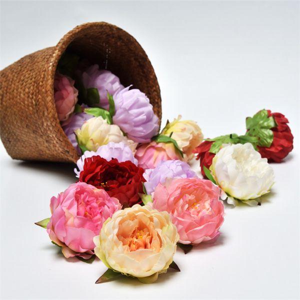 200pcs Artificial Peony flowers Heads 4.7inch Big Rose Flower Heads wholesale for Wedding Decor,Flower Wreath, Flower Garland,Flower Ball