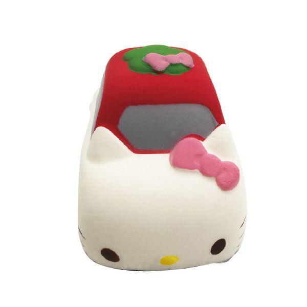 The popular design cute Jumbo kawaii Simulation hello kitty car Slow Rising Squishies Scented hello kitty car Squishy toy