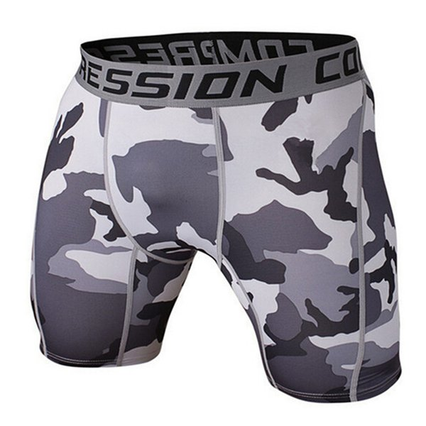 12 Patterns Men's Compression Shorts 2017 Summer Camouflage Bermuda Shorts Fitness Men Cossfit Bodybuilding Tights Camo