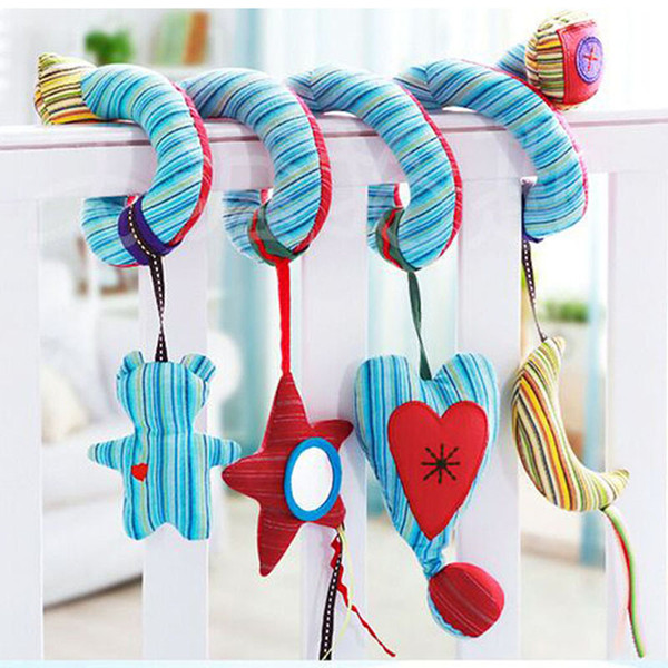 Early Development Soft Infant Crib Bed Stroller Toy Spiral Baby Toys For Newborns Car Seat Hanging Bebe Bell Rattle Toy For Gift free ship