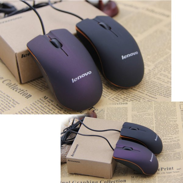 top popular Lenovo M20 Mini Wired 3D Optical USB Gaming Mouse Mice For Computer Laptop Game Mouse with retail box Free DHL Black Red 2020