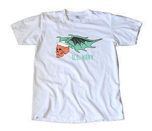 T-shirt do decalque de Ed Roth da marinha dos EUA do vintage - hot rod
