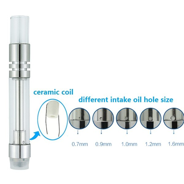silver 1.0ml glass tip message oil hole
